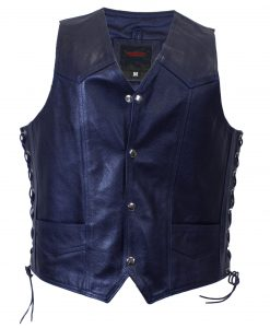dark blue Blueknights vest
