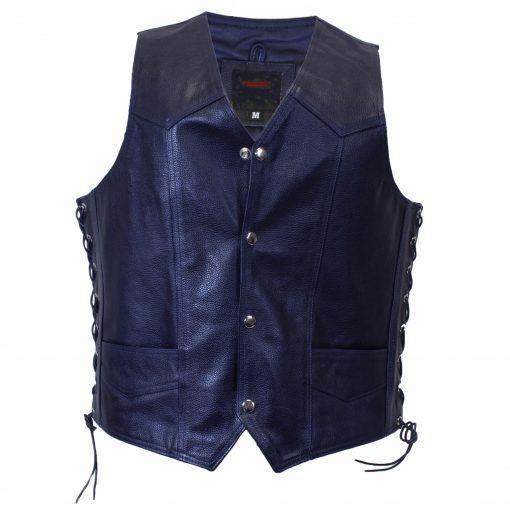 dark blue Blueknights vest